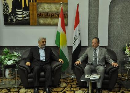 (Kamil Hajji Ali, Minister für religiöse Angelegenheiten in Irakisch-Kurdistan und Prof. Dr. Linus Hauser, Vorsitzender der CEG)