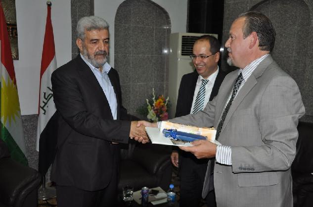 (Kamil Hajji Ali, Minister für religiöse Angelegenheiten in Irakisch-Kurdistan; Irfan Ortac, Stellv. Vorsitzender der CEG; Prof. Dr. Linus Hauser, Vorsitzender der CEG)